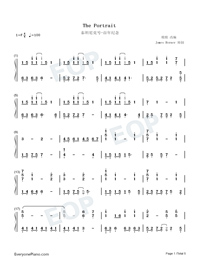 The Portrait-Titanic OST-Numbered-Musical-Notation-Preview-1