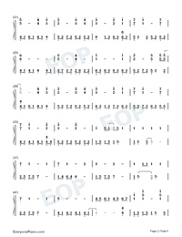 The Portrait-Titanic OST-Numbered-Musical-Notation-Preview-2