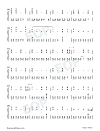 The Portrait-Titanic OST-Numbered-Musical-Notation-Preview-3