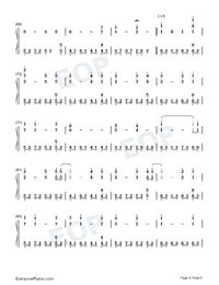 The Portrait-Titanic OST-Numbered-Musical-Notation-Preview-4