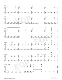 The Portrait-Titanic OST-Numbered-Musical-Notation-Preview-5