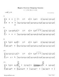 Meguru Kisetsu-Changing Seasons-Numbered-Musical-Notation-Preview-1