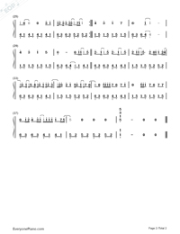 Back to December Numbered Musical Notation Preview 2