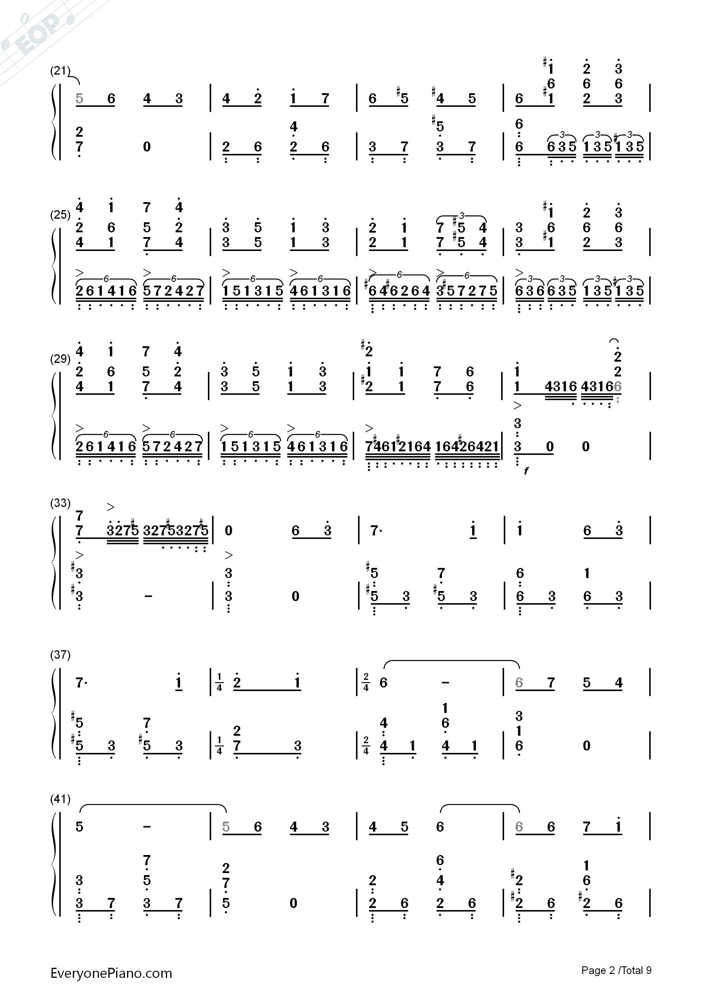 Lilium Numbered Musical Notation Preview 2