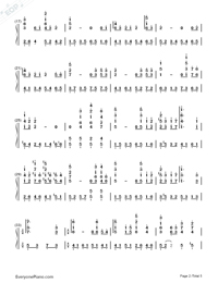 Princess Mononoke Ending Theme-Numbered-Musical-Notation-Preview-2