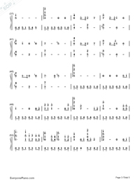 Princess Mononoke Ending Theme-Numbered-Musical-Notation-Preview-3