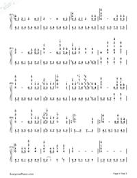 Princess Mononoke Ending Theme-Numbered-Musical-Notation-Preview-4