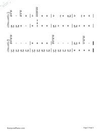 Princess Mononoke Ending Theme-Numbered-Musical-Notation-Preview-5