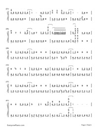 Tonari no Totoro-My Neighbor Totoro ED-Numbered-Musical-Notation-Preview-2