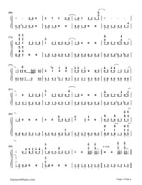 Tonari no Totoro-My Neighbor Totoro ED-Numbered-Musical-Notation-Preview-4