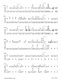 Tonari no Totoro-My Neighbor Totoro ED-Numbered-Musical-Notation-Preview-5