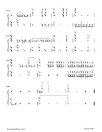 Carousel-Howl's Moving Castle Theme-Numbered-Musical-Notation-Preview-9