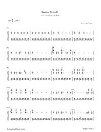 さんぽ-となりのトトロ-となりのトトロOP両手略譜プレビュー1