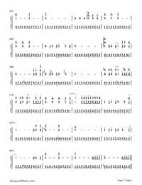さんぽ-となりのトトロ-となりのトトロOP両手略譜プレビュー2