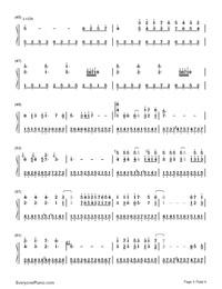 さんぽ-となりのトトロ-となりのトトロOP両手略譜プレビュー3