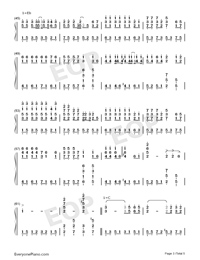 Days on the Beijing East Road-Numbered-Musical-Notation-Preview-3
