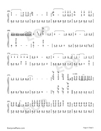 Days on the Beijing East Road-Numbered-Musical-Notation-Preview-4