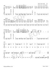 Days on the Beijing East Road-Numbered-Musical-Notation-Preview-5