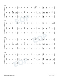 Country Road-Take Me Home Country Roads Numbered Musical Notation Preview 2