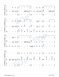 Country Road-Take Me Home Country Roads Numbered Musical Notation Preview 3
