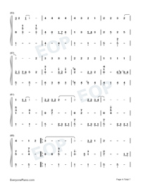Country Road-Take Me Home Country Roads Numbered Musical Notation Preview 4
