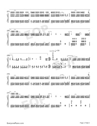 Promised Happiness - Solo Piano Version-Numbered-Musical-Notation-Preview-2