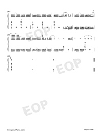 Promised Happiness - Solo Piano Version-Numbered-Musical-Notation-Preview-3
