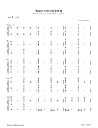 Variations on Pachelbel's Canon-Numbered-Musical-Notation-Preview-1