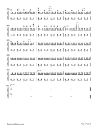 Variations on Pachelbel's Canon-Numbered-Musical-Notation-Preview-5