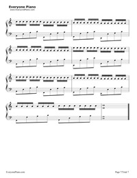 Variations on Pachelbel's Canon Stave Preview 7