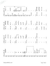 アシタカとサン- Ashitaka And San両手略譜プレビュー3
