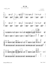 Opera Highlights-Numbered-Musical-Notation-Preview-1