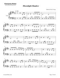 ムーンライトシャドウ- Moonlight Shadow五線譜プレビュー1