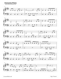 ムーンライトシャドウ- Moonlight Shadow五線譜プレビュー2