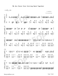 We Are Never Ever Getting Back Together-Taylor Swift-Numbered-Musical-Notation-Preview-1