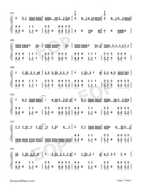 We Are Never Ever Getting Back Together-Taylor Swift-Numbered-Musical-Notation-Preview-2