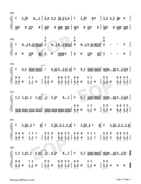 We Are Never Ever Getting Back Together-Taylor Swift-Numbered-Musical-Notation-Preview-3