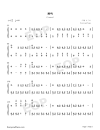 The Episode of Clannad-Numbered-Musical-Notation-Preview-1
