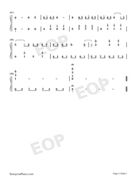 The Episode of Clannad-Numbered-Musical-Notation-Preview-3