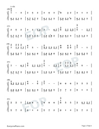 Arrietty's Song-Numbered-Musical-Notation-Preview-2