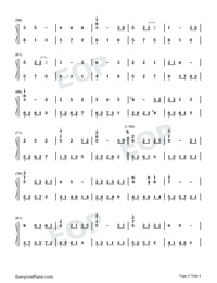 Arrietty's Song-Numbered-Musical-Notation-Preview-3