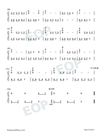 Arrietty's Song-Numbered-Musical-Notation-Preview-4
