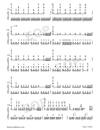 Guren no Yumiya-Attack on Titan OP Numbered Musical Notation Preview 2