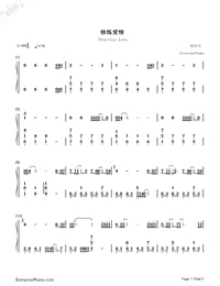 Practice Love Numbered Musical Notation Preview 1