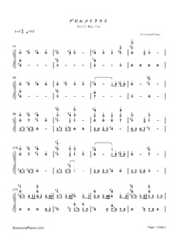 Devil May Cry-Numbered-Musical-Notation-Preview-1