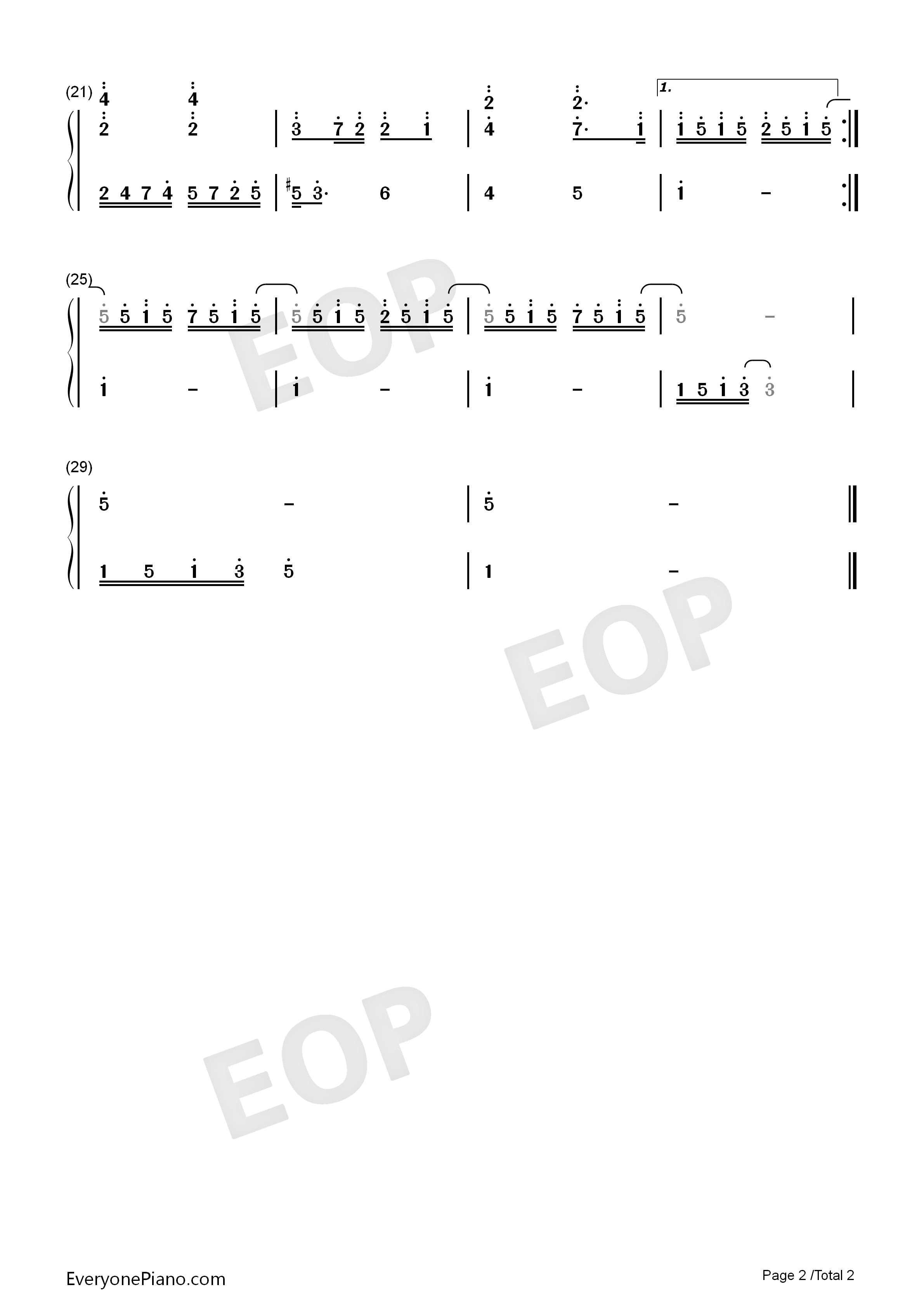 twinkle twinkle little star numbered musical notation preview 2