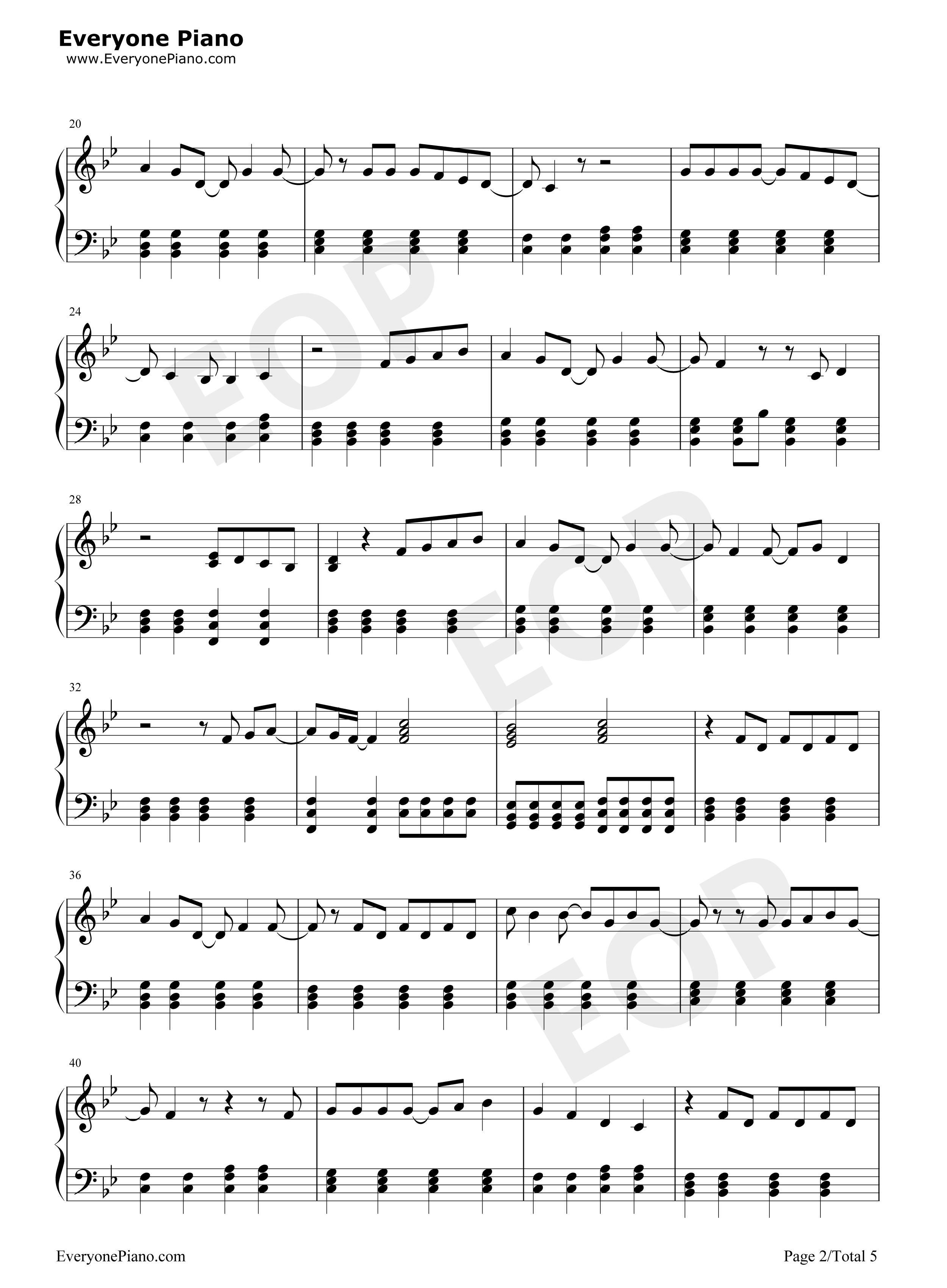 Piano sheet music preview 2 free piano sheet music amp piano chords