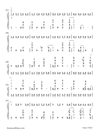 Canon in Jazz Version-Johann Pachelbel-Numbered-Musical-Notation-Preview-2
