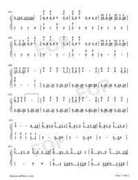 Ren'ai Circulation-Love Circulation-Bakemonogatari OP-Numbered-Musical-Notation-Preview-2
