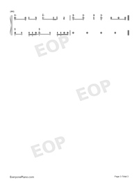 Ren'ai Circulation-Love Circulation-Bakemonogatari OP-Numbered-Musical-Notation-Preview-3